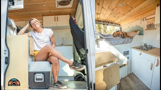 Her Custom Dodge Promaster Camper Van - Living & Working Remotely On The Road
