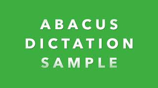 Abacus Dictation Exam Sample