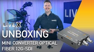 Unboxing Mini Converter Optical Fiber 12g Sdi Youtube