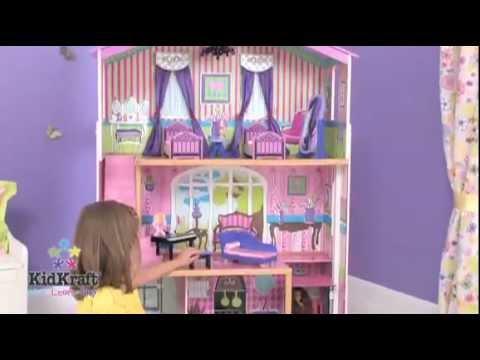 Kidkraft suite elite mansion 65255 colorful wooden playhouse youtube kidkraft suite elite mansion 65255 colorful wooden playhouse workwithnaturefo