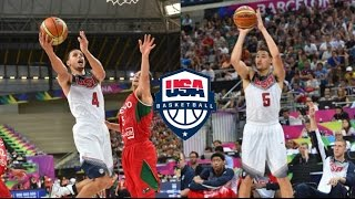 Splash Brothers Team USA Full Highlights vs Mexico 2014.9.6 - 35 Pts, INSANE Shooting!