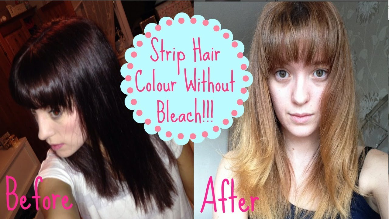 How To: Remove Colour WITHOUT BLEACH. How I got from dark to light ...