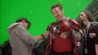Мстители 3 Война Бесконечности смотреть как снимали фильм делали трюки актеры