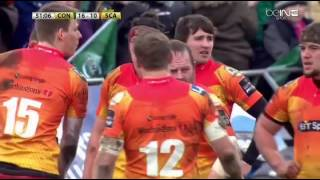 Referee Ben Whitehouse does not tolerate disrespect on his field. [Connacht vs Scarlets '16]