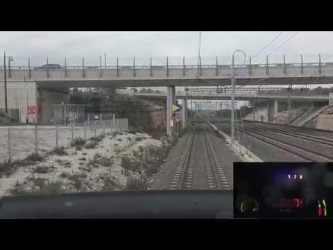 High Speed Train TGV Cab Ride