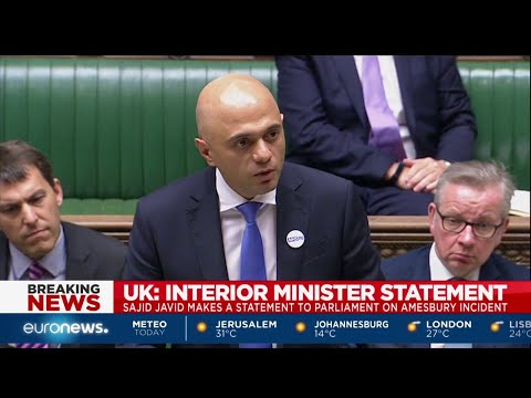UK Home Secretary Sajid Javid statement at the House of Commons on the Amesbury incident.