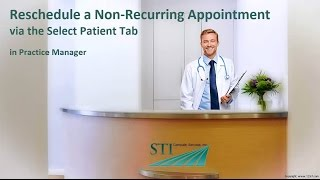 Rescheduling a Non-Recurring Appointment (Select Patient Tab)