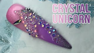 CRYSTAL UNICORN DESIGN WITH SUPER STRONG ACRY GEL