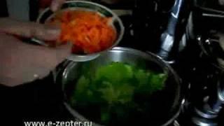Овощи с колбасой в листьях салата - видео рецепт