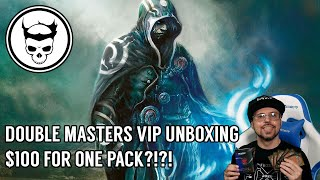 $100 FOR ONE PACK? MTG Double Masters VIP Unboxing w/ Spooky