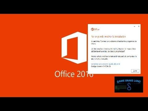 como solucionar el error de office 2016 al instalar (solución) error 0- 1036 (0)