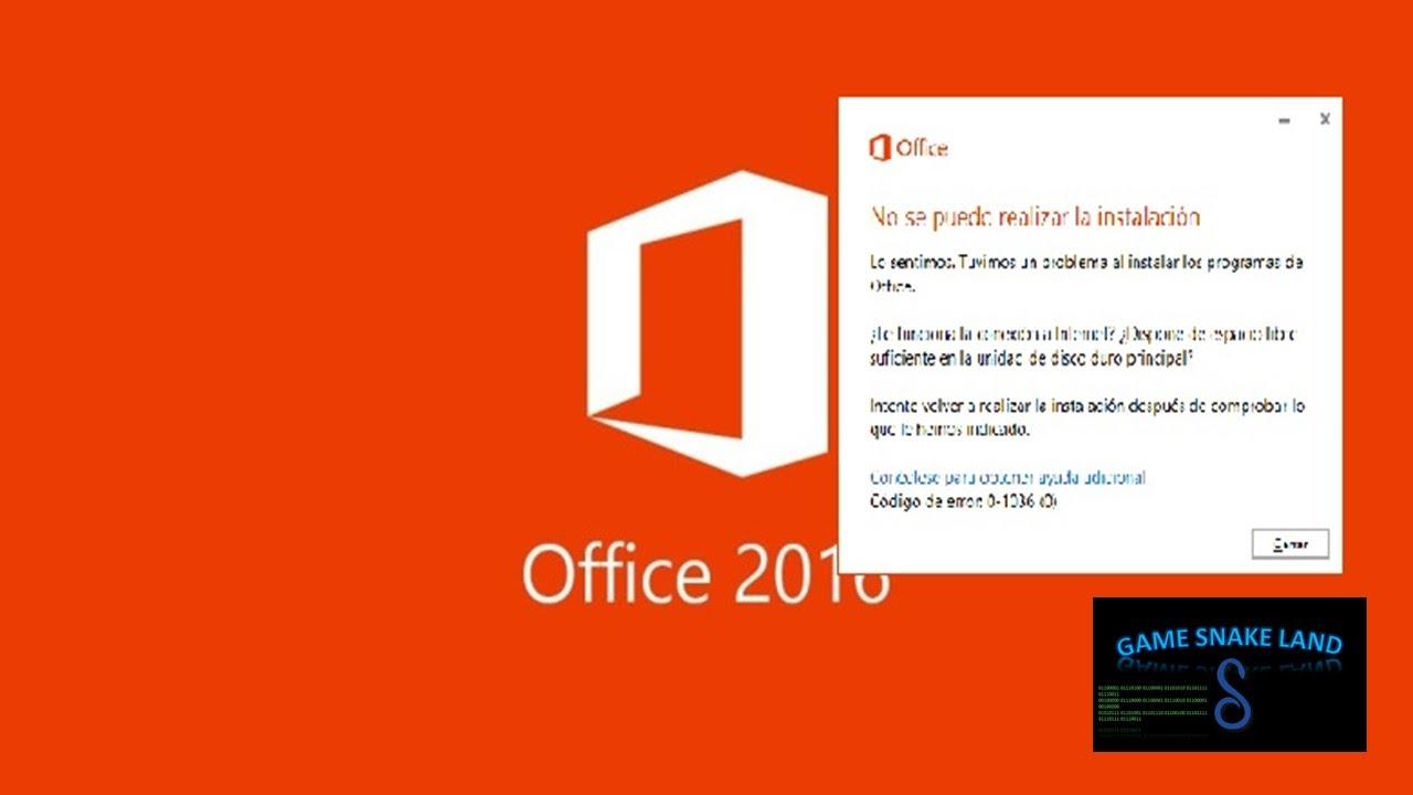 Como Solucionar El Error De Office 2016 Al Instalar