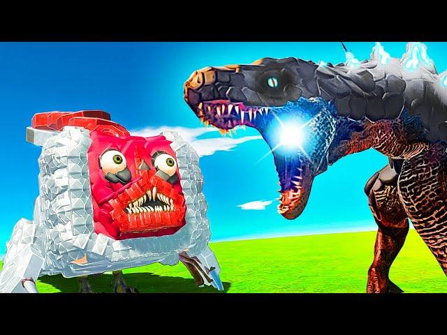 Is GODZILLA More Powerful Than BRIDGE WORM? - Animal Revolt Battle Simulator