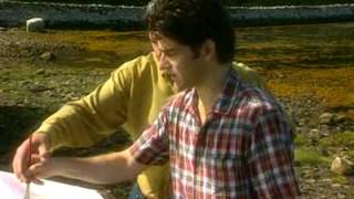 Dermot Cavanagh Teaching Brian Kennedy to paint at Ardara, County Donegal, Ireland.