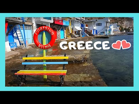 Island Of MILOS: Scenic Small Fishing 🐟 Village (Klima), Colorful 🏘️ Boathouses (Greece)