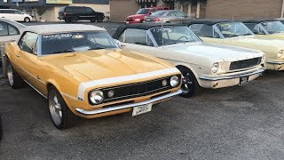LOT FULL OF MUSCLE CARS AND TRUCKS TOTAL WALK AROUND!!!