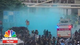 Download lagu Violence Erupts In Hong Kong After Withdrawal Of Extradition Bill NBC News Now MP3