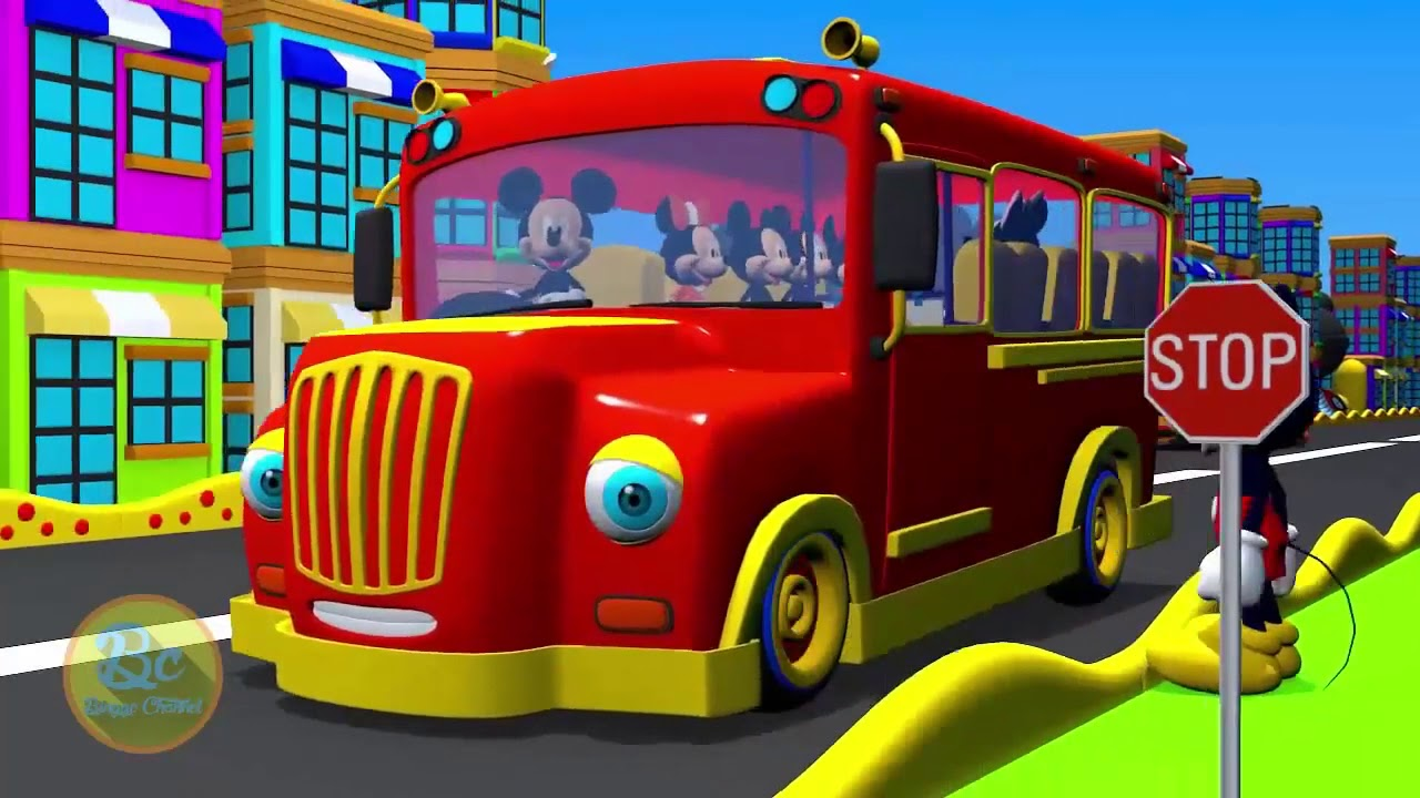 Mickey Mouse Clubhouse Wheels On The Bus Nursery Rhymes And Kids