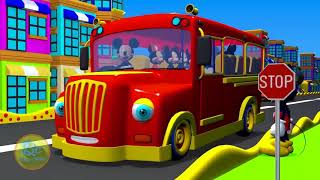 Mickey Mouse Clubhouse Wheels On The Bus | Nursery Rhymes and Kids Song | 3D Animation -  |