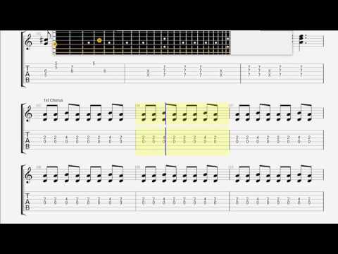 Cats, Stray   Rock This Town GUITAR TAB