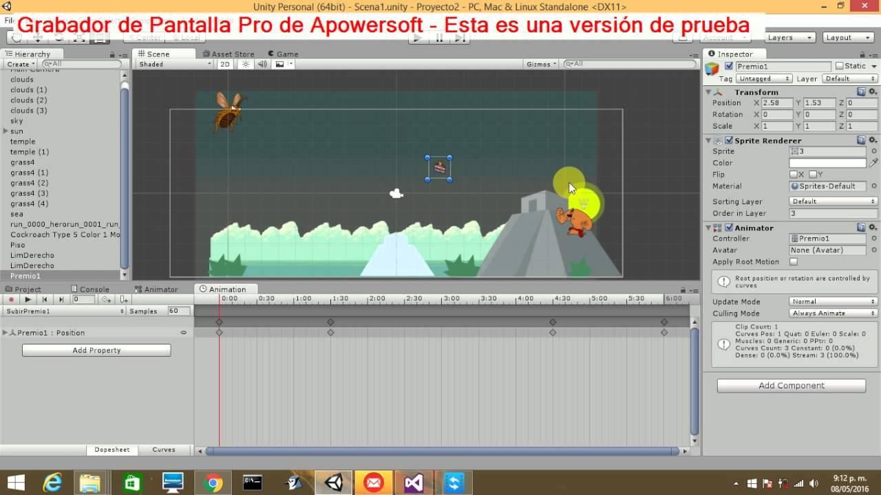 Video Juego 2d Unity Animaciones De Escena Enemigos Y Movimientos