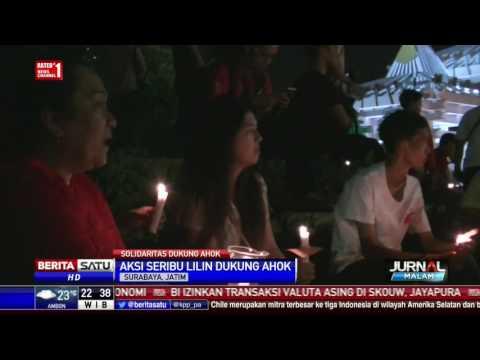 Aksi 1000 Lilin untuk Ahok Terangi Surabaya dan Semarang