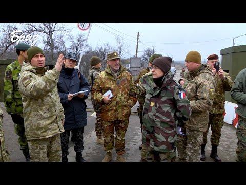 Телерадіостудія Бриз МО України: Військові аташе відвідали підрозділи ООС