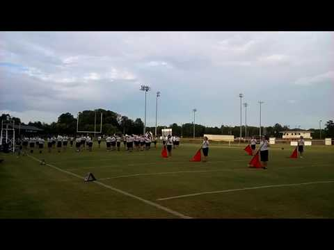 West Hall High School marching band/color guard