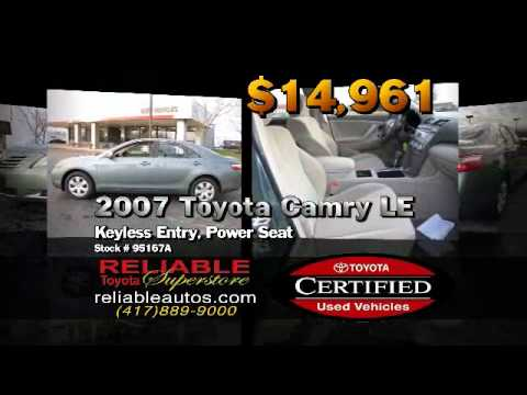 Reliable Toyota Springfield Mo >> Toyota Certified Used Cars In Springfield Mo