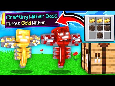 ماين كرافت صنعت الوذر بوس من الموارد!🔥😱 - Crafting Wither Boss