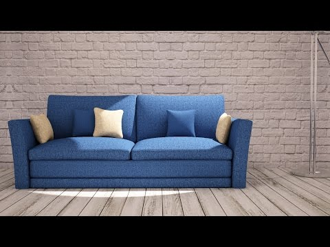 Soft furniture modeling in 3Ds Max