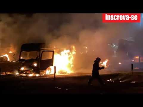 Explosão:  Caminhão explode em posto Combustíveis em Rio Claro ( 30/06/2021 )