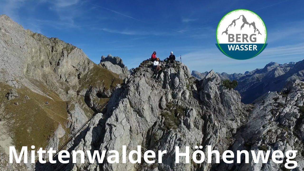 Klettersteig Mittenwald : Mittenwalder höhenweg klettersteig im karwendel