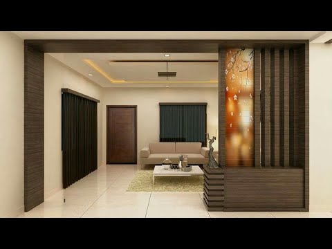 wooden partition wall designs living room - YouTube