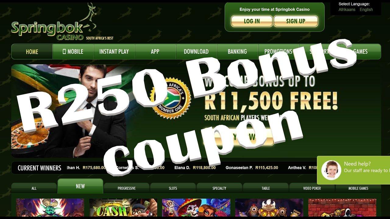 Springbok casino hidden coupons 2020 free