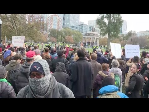 LIVE from Boston - 'Rally for the Republic' VS Antifa Counter protest
