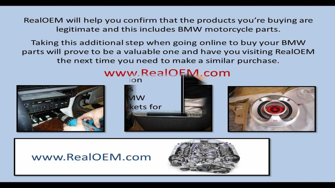 realoem helps when going online to buy bmw spare parts - youtube