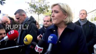 France: Le Pen backs police action during violent protest in Aulnay-sous-Bois