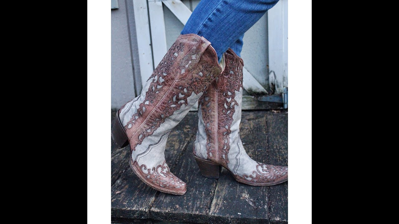 SHOE UNBOXING! Corral Vintage Cowboy Boots - YouTube
