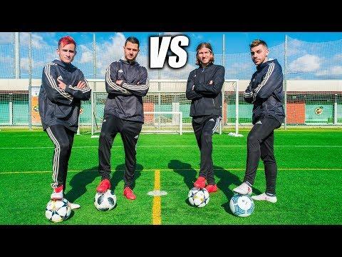 FILIPE LUIS & DJMARIIO VS VITOLO & DELANTERO09 - Retos de Fútbol