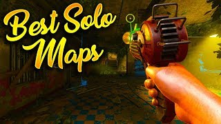 Top 10 Best Maps to Play Solo in Treyarch Zombies! (Call of Duty Zombies Top 10)