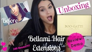 Bellami Hair Extensions Boogatti Unboxing Review Demo Thickest