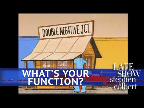 See Late Show Skit - Schoolhouse Rock! Presents: Double Negative Junction!
