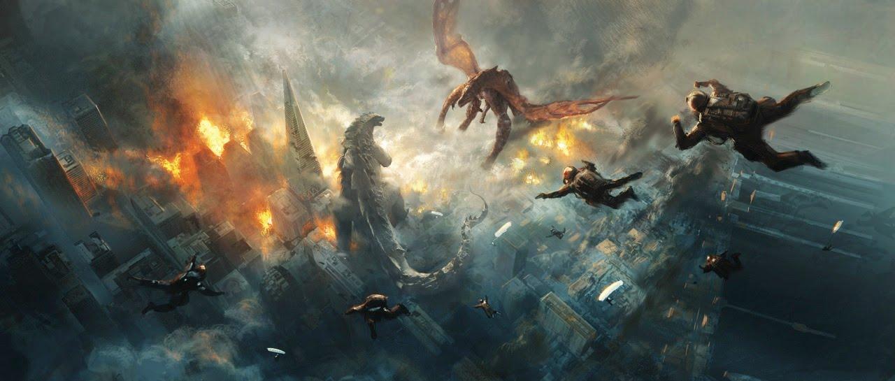Godzilla Art Of Destruction And Godzilla Official