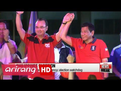 Rodrigo Duterte claims victory in the Philippine presidential election