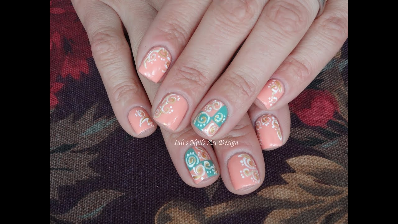 Nail art design pastel spring swirls on short nails live nail art design pastel spring swirls on short nails live tutorial youtube prinsesfo Images