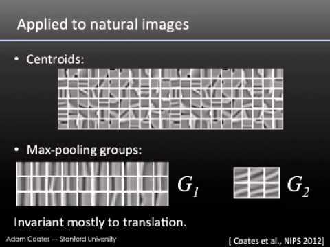 Adam Coates -- Demystifying Unsupervised Feature Learning -- UC Berkeley 12/7/2012