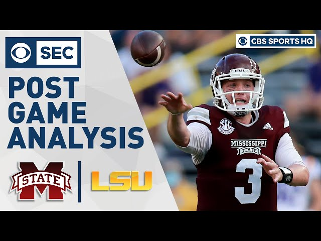 Mississippi ST vs #6 LSU: Leach's offense blows doors off LSU | Post Game Analysis | CBS Sports HQ