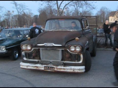 1959 Chevrolet Viking 1000+HP Rat Rod Towing Truck! INSANELY LOUD! - YouTube