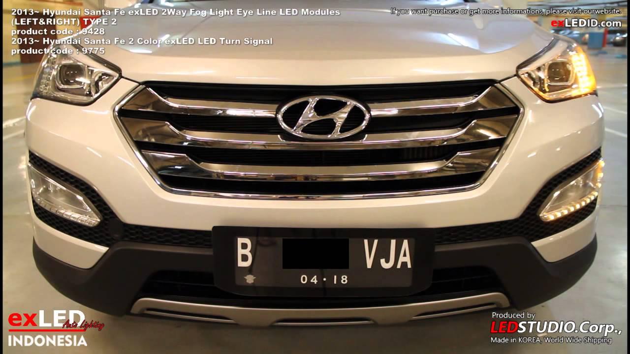 Hyundai Santa Fe Exled Front Turn Signal And Fog Light